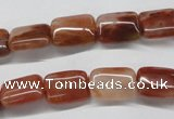 CDQ20 15.5 inches 10*14mm rectangle natural red quartz beads wholesale