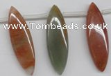 CDQ58 Top-drilled 12*40mm marquise natural red quartz beads wholesale