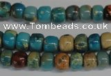 CDS252 15.5 inches 4*6mm rondelle dyed serpentine jasper beads