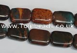 CDS265 15.5 inches 12*16mm rectangle dyed serpentine jasper beads