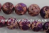 CDT835 15.5 inches 14mm round dyed aqua terra jasper beads wholesale
