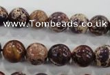CDT844 15.5 inches 12mm round dyed aqua terra jasper beads wholesale