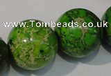 CDT925 15.5 inches 24mm round dyed aqua terra jasper beads
