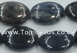 CDU01 15.5 inches 18*25mm oval natural blue dumortierite beads