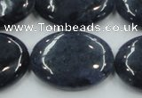 CDU02 15.5 inches 22*30mm oval natural blue dumortierite beads