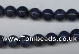 CDU102 15.5 inches 8mm round blue dumortierite beads wholesale