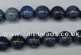 CDU103 15.5 inches 10mm round blue dumortierite beads wholesale
