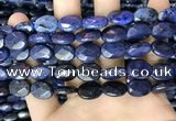 CDU217 15.5 inches 10*14mm faceted oval blue dumortierite beads
