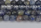 CDU308 15.5 inches 4mm faceted round blue dumortierite beads