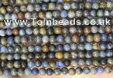 CDU360 15.5 inches 4mm round sunset dumortierite beads wholesale