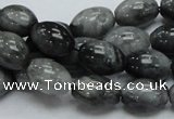 CEE09 15.5 inches 10*14mm rice eagle eye jasper beads wholesale