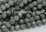 CEE19 15.5 inches 6mm faceted round eagle eye jasper beads wholesale