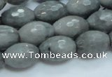 CEE29 15.5 inches 13*18mm faceted rice eagle eye jasper beads