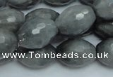 CEE30 15.5 inches 15*20mm faceted rice eagle eye jasper beads