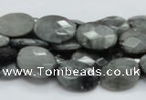CEE42 15.5 inches 13*18mm faceted oval eagle eye jasper beads