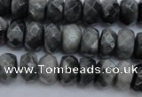 CEE69 15.5 inches 8*12mm faceted rondelle eagle eye jasper beads