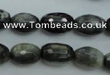 CEE71 15.5 inches 8*12mm faceted rice eagle eye jasper beads