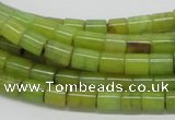 CEJ01 15.5 inches 6*8mm column lemon jade beads wholesale