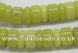 CEJ02 15.5 inches 5*14 & 8*14mm rondelle lemon jade beads wholesale
