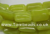 CEJ04 15.5 inches 13*18mm rectangle lemon jade beads wholesale