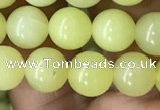 CEJ352 15.5 inches 8mm round lemon jade beads wholesale