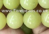 CEJ354 15.5 inches 12mm round lemon jade beads wholesale