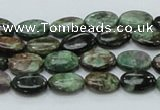 CEM11 15.5 inches 8*12mm oval emerald gemstone beads wholesale