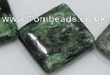CEM23 15.5 inches 30*30mm diamond emerald gemstone beads wholesale