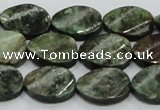 CEM24 15.5 inches 13*18mm twisted oval emerald gemstone beads