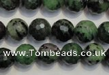 CEP108 15.5 inches 12mm faceted round epidote gemstone beads