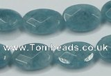 CEQ193 15.5 inches 13*18mm faceted oval blue sponge quartz beads