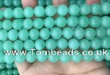 CEQ303 15.5 inches 10mm round green sponge quartz beads