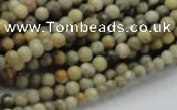 CFA01 15.5 inches 4mm round chrysanthemum agate gemstone beads