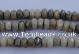 CFA208 15.5 inches 4*6mm faceted rondelle chrysanthemum agate beads