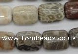 CFA222 15.5 inches 13*18mm rectangle chrysanthemum agate beads