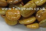 CFA47 15.5 inches 15*20mm oval yellow chrysanthemum agate beads