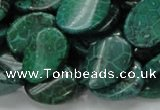 CFA72 15.5 inches 15*20mm twisted oval green chrysanthemum agate beads