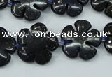 CFG453 15.5 inches 20mm carved flower blue iron stone beads