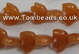 CFG771 15.5 inches 10*15mm carved animal red aventurine beads