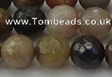 CFJ214 15.5 inches 12mm faceted round fancy jasper beads wholesale
