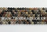 CFJ217 15.5 inches 6mm faceted round fancy jasper beads
