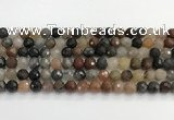 CFJ218 15.5 inches 8mm faceted round fancy jasper beads
