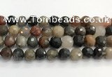 CFJ220 15.5 inches 12mm faceted round fancy jasper beads