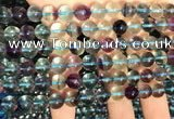 CFL1131 15.5 inches 8mm round fluorite gemstone beads wholesale