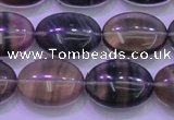 CFL1342 15.5 inches 13*18mm oval purple fluorite gemstone beads