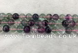 CFL1484 15.5 inches 12mm round rainbow fluorite gemstone beads