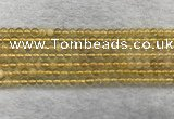 CFL1506 15.5 inches 4mm round yellow fluorite gemstone beads