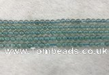 CFL1514 15.5 inches 4mm round blue fluorite gemstone beads