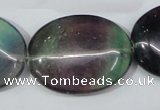CFL172 15.5 inches 25*35mm oval natural fluorite beads wholesale