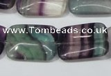 CFL173 15.5 inches 18*25mm rectangle natural fluorite beads wholesale